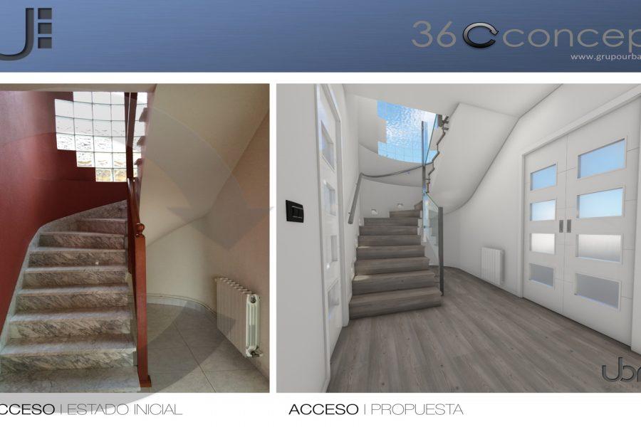 Reforma integral de vivienda unifamiliar con el sistema 360concept