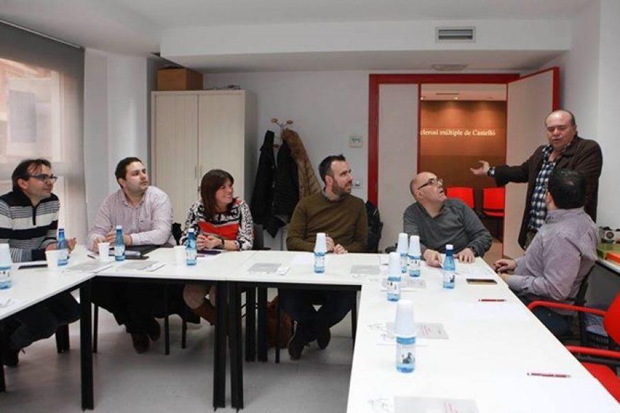 Presentación en la sede de la Asociación de Esclerosis Múltiple de Castellón